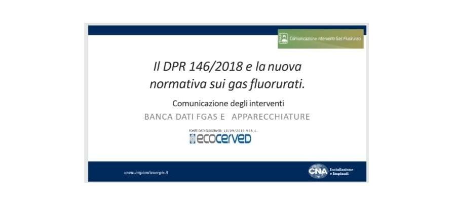 Presentazione Manuale-Comunicazione Interventi Banca Dati FGAS