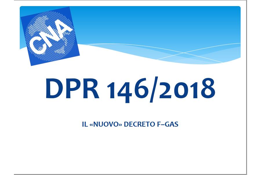 """Guida """"DPR 146/2018 sugli FGAS"""""""